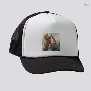 Pit Bull Painting Kids Trucker hat
