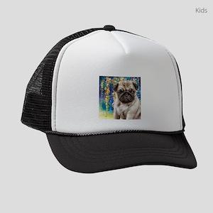 Pug Painting Kids Trucker hat