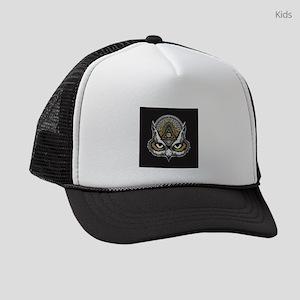 Owl Art Kids Trucker hat