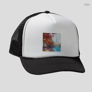Paris Painting Kids Trucker hat