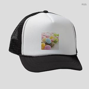 Easter Eggs Kids Trucker hat