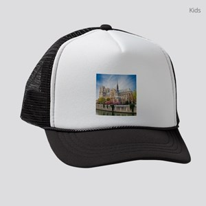 Notre Dame Cathedral Kids Trucker hat