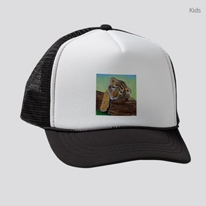 Sleepy Tiger Cub Kids Trucker hat