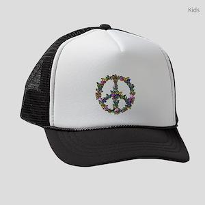 Butterfly Peace Symbol Kids Trucker hat
