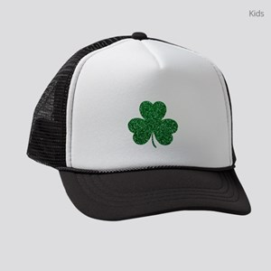 Shamrock, Green, Irish, St Patric Kids Trucker hat