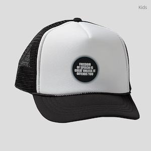 Freedom of Speech Kids Trucker hat