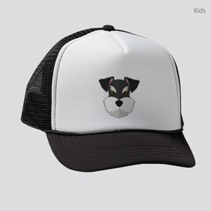 Cartoon Schnauzer Kids Trucker hat