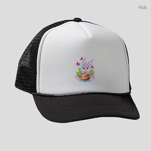Pink Easter Bunny Kids Trucker hat