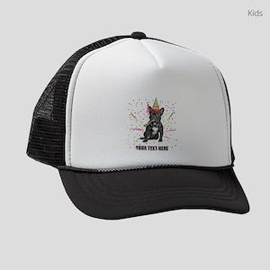 Custom French Bulldog Birthday Kids Trucker hat