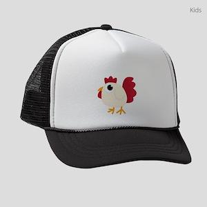 Funny White Chicken Kids Trucker hat