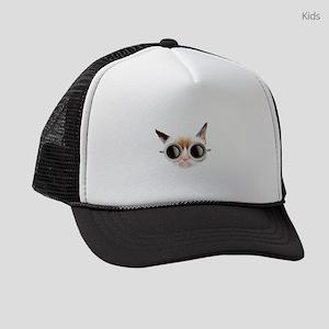 Coffee Cat Kids Trucker hat