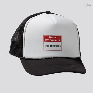 Custom Name Tag Kids Trucker hat