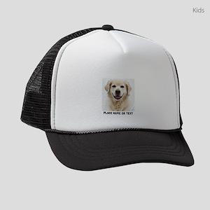 Customize Pet Photo Text Kids Trucker hat