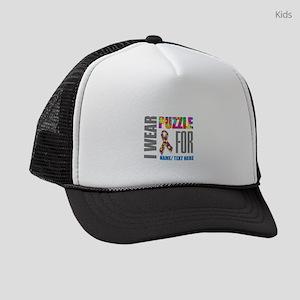 Autism Awareness Ribbon Kids Trucker hat