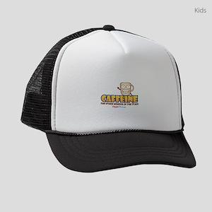 Caffeine on Staff 3 Kids Trucker hat