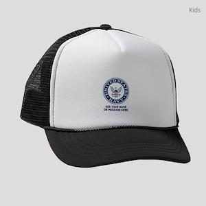 US Navy Symbol Personalized Kids Trucker hat