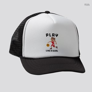 Emoji Play Like a Girl Kids Trucker hat