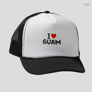 I Love Guam Kids Trucker hat