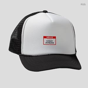 Hello My Name Is Leroy Jenkins Kids Trucker hat