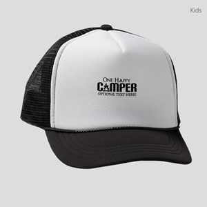 ONE HAPPY CAMPER FUNNY PERSONALIZED Kids Trucker h