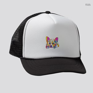 Colorful Corgi Puppy Kids Trucker hat