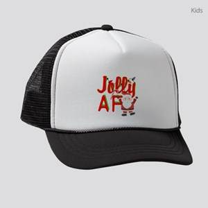 Jolly AF humor Christmas Kids Trucker hat