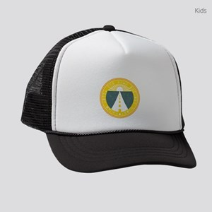 roam until the road becomes home Kids Trucker hat