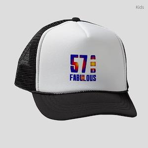 57 And Fabulous Birthday Designs Kids Trucker hat