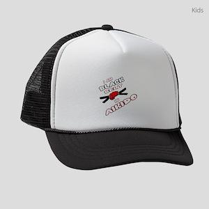 I am Black Belt in Aikido Kids Trucker hat