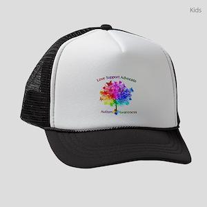Autism Rainbow Tree Kids Trucker hat