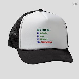 My Brain, 90% Taekwondo Kids Trucker hat