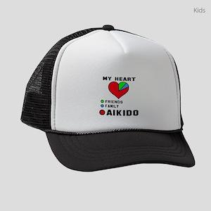 My Heart Friends, Family, Aikido Kids Trucker hat