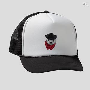 CowBoy Panda Bear Kids Trucker hat
