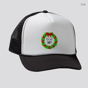 airedale-terrier-christmas Kids Trucker hat