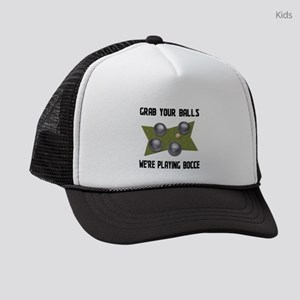 Grab Your Balls Bocce Kids Trucker hat