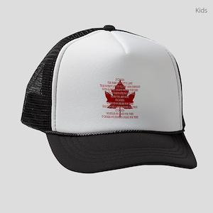 Canada Anthem Souvenir Kids Trucker hat