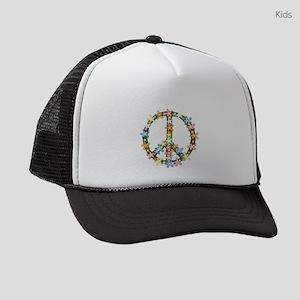 Peace Flowers Kids Trucker hat