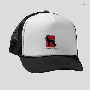3-redsilhouette Kids Trucker hat