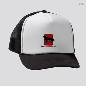 9-redsilhouette Kids Trucker hat
