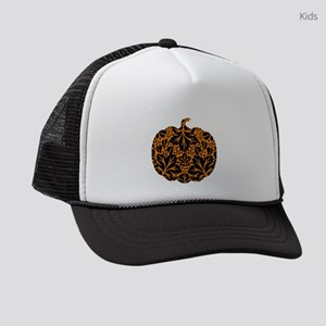 Damask Pattern Pumpkin Kids Trucker hat