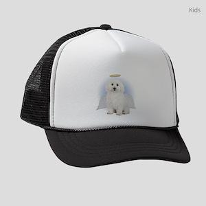 Angel Bichon Frise Kids Trucker hat