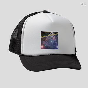 fourth-dimension-space Kids Trucker hat