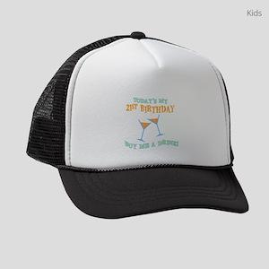 21st-birthday-drink Kids Trucker hat