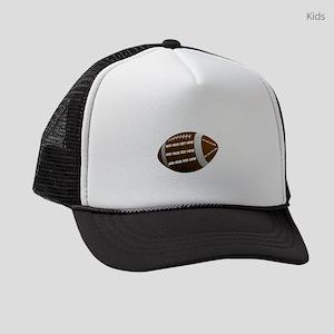 Personalizable Football Kids Trucker hat