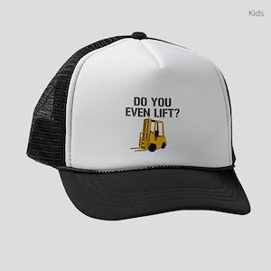 Do You Even Lift Forklift Kids Trucker hat