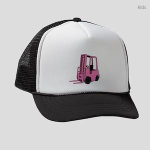 Pink Forklift Kids Trucker hat