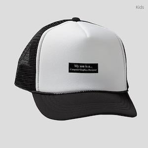 Son - Computer Graphics Designer Kids Trucker hat