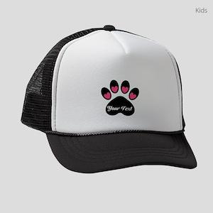 Personalizable Paw Print Kids Trucker hat