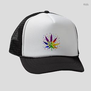 Rainbow Marijuana Aquarius Kids Trucker hat
