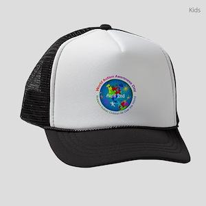 World Autism Awareness Day Kids Trucker hat